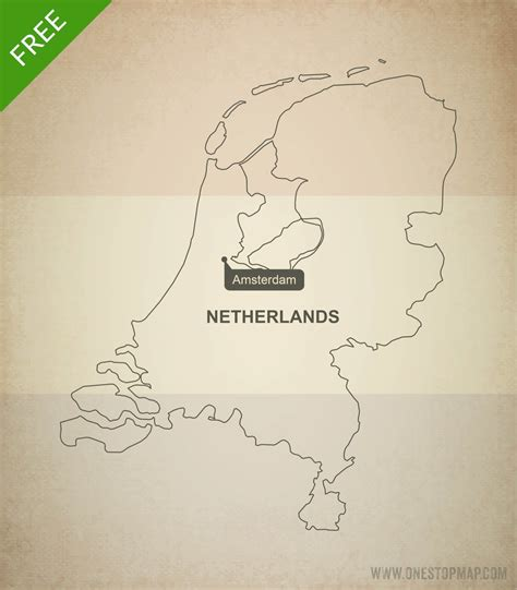 netherlands map outline free vector map of netherlands outline one stop map