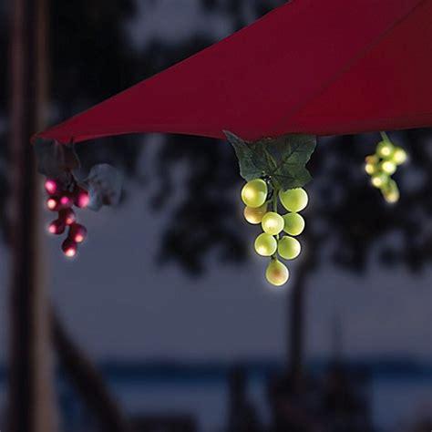 solar umbrella string lights solar 64 bulb led grapevine garland umbrella string lights