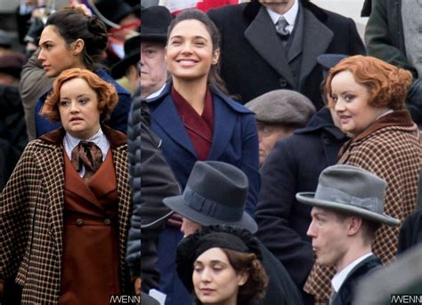 lucy davis as etta candy wonder woman on set pictures reveal lucy davis as etta candy