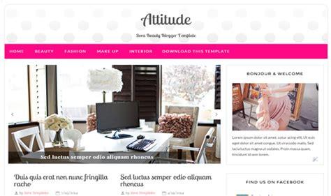 attitude beauty blogger template