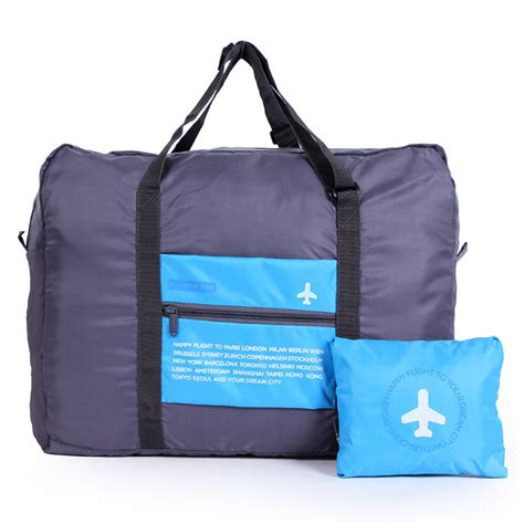 Foldable Travel Bag 2 big size foldable luggage bag clothes storage carry on duffle bag travel baggage ebay