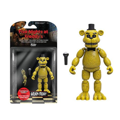 Five nights at freddy s articulated 5 inch action figure gold freddy