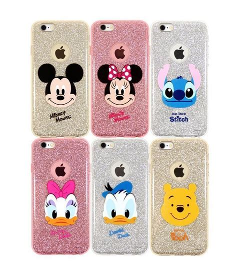 Jelly Soft Shell Doraemon Sinchan Stitch Iphone 5 6 disney cutie iphone 6 6s plus cell phone soft jelly clear cover protector phone