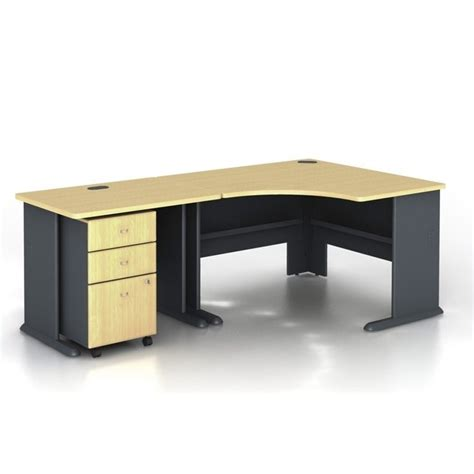 Bush Series A Corner Desk Bush Bbf Series A 3 Corner Computer Desk In Beech Wc14366 Pkg3
