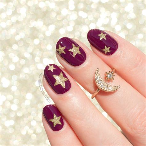pedicure colors to the stars glitter star nail stickers 9 colours sonailicious boutique