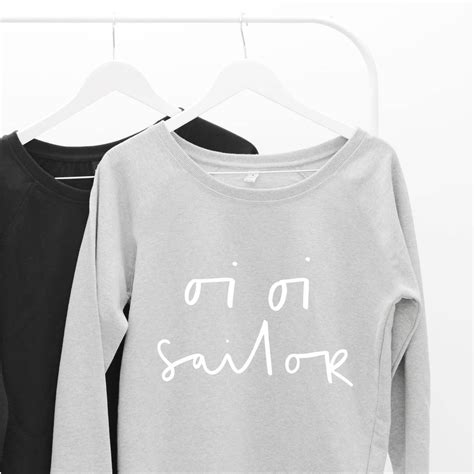 Sweater Oi Oi Oi Sailor Scoop Neck S Sweater By Letter Clothing