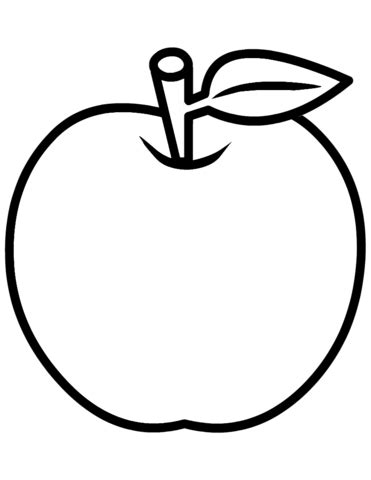 Coloring Page Of An Apple by Apple Coloring Page Free Printable Coloring Pages