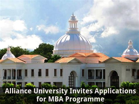 Is Alliance For Mba alliance invites applications for mba programme