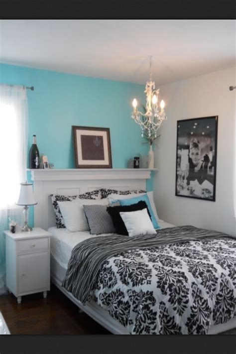 bedroom ideas teal black and white home delightful