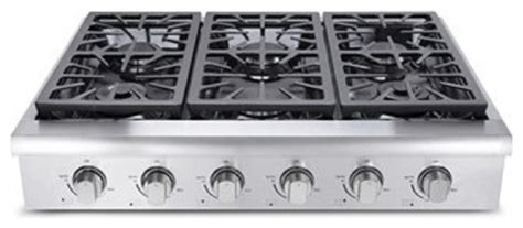 Cooktop Industrial Professional Gas Rangetop With 4 Sealed Burners Stainless