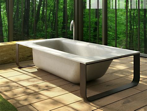 concrete bathtub freestanding bathtub concrete bath by glass 1989