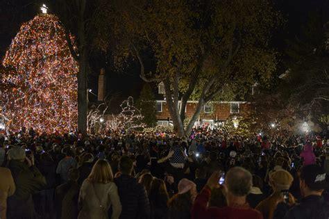 princeton palmer square tree lighting a shining moment town topics