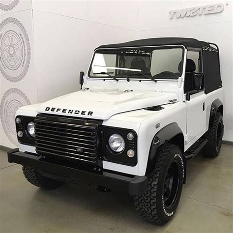 white land rover defender 90 land rover defender 90 td4 white top canvas black so