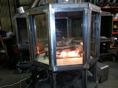Handmade Wood Stove - gas multi sided custom fireplace 4 sided 8 sided