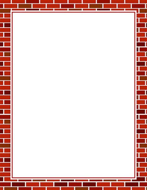 printable paper photo frames printable brick border free gif jpg pdf and png
