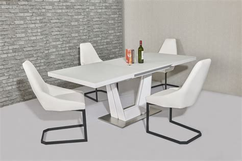glass dining table with white chairs matt white glass dining table and 6 white chairs homegenies