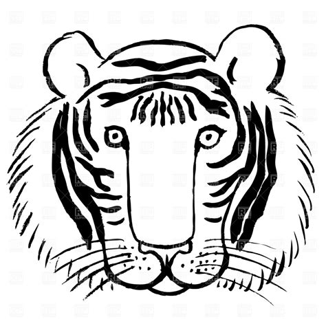 stripeless tiger coloring page templates clipart tiger pencil and in color templates