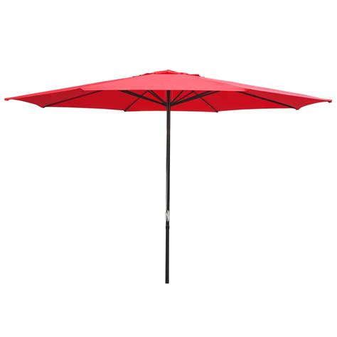 Patio Sun Umbrellas 13 Ft Sun Shade Patio Aluminum Umbrella Uv30 Outdoor Market Garden Deck Ebay