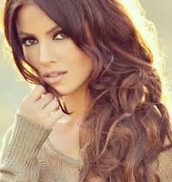 gorgeous hair medium brown with caramel highlights and sultry layers