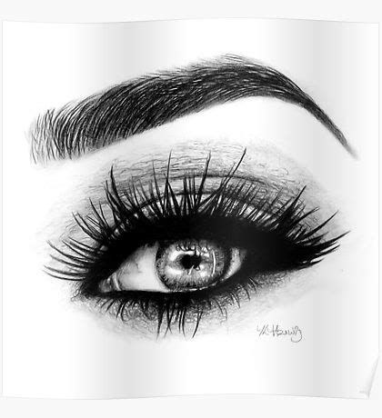 eye makeup drawing: posters | redbubble