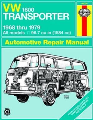 Vw Transporter 1600 Workshop Manual 1968 79 1600cc By