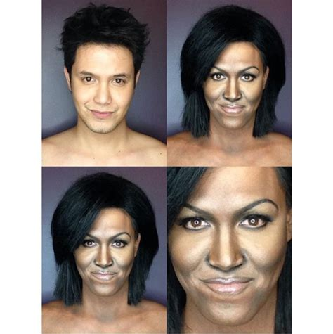 what does michelle obama really look like without her wig paolo ballesteros makeup transformation as michelle obama