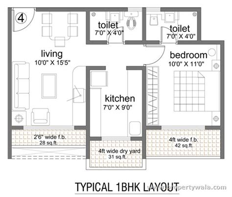1bhk Floor Plan by 1 Bhk Ground Floor Plan Layout Palm Exotica Floor Plan