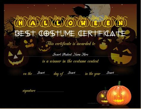 Halloween Costume Certificate Template from tse2.mm.bing.net