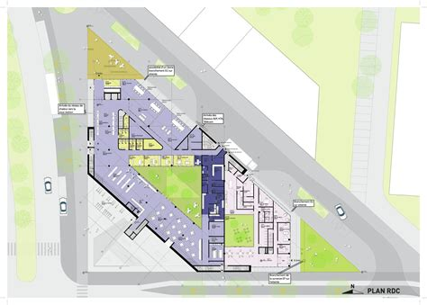Plan Floor by Gallery Of Euralille Youth Centre Jds Architects 11