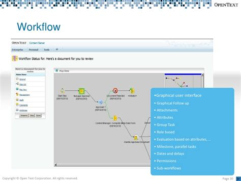 opentext workflow open text content lifecycle management 2010