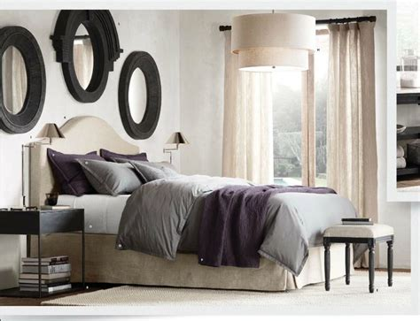 master bedroom restoration hardware for the home