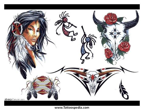 tattoo flash native american tattoospedia