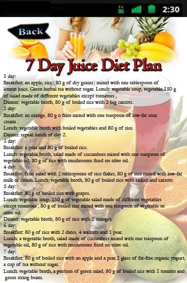 at home juice cleanse plan 7 day juice diet plan android apps on google play