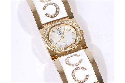 montre femme blanche bijoux bracelet gold fb07 mon f