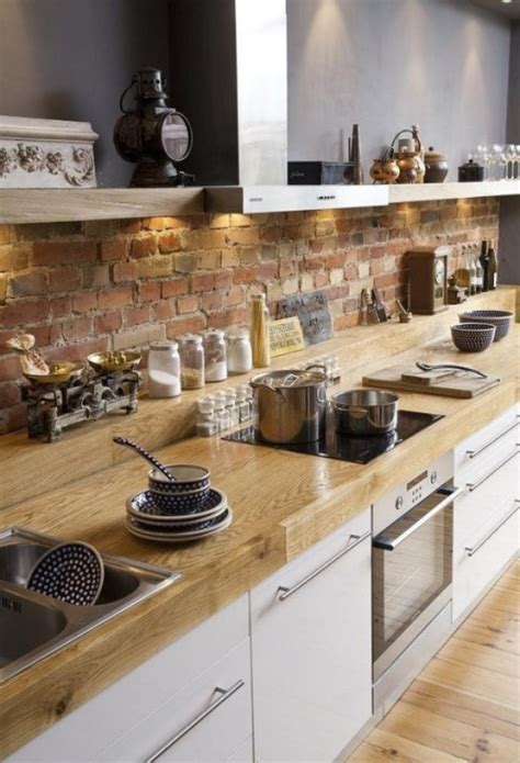 Kitchen Backsplash Brick Brick Backsplashes Rustic And Of Charm