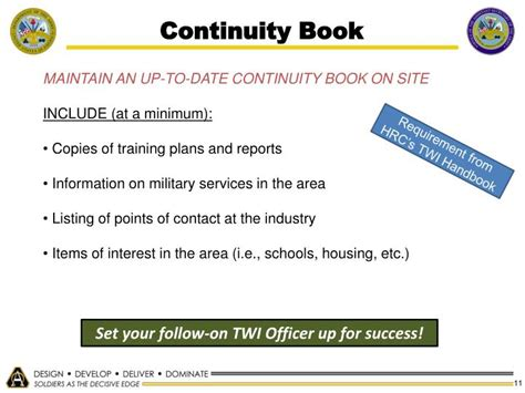 army continuity book template continuity book army template choice image template