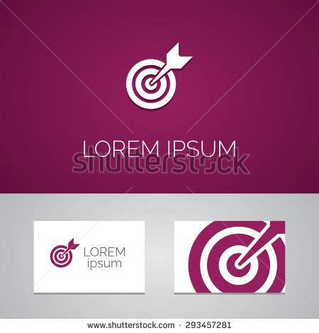 target business cards template target logo template icon design elements stock vector