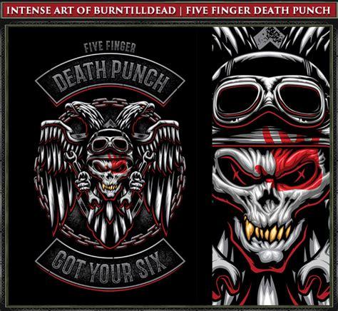 five finger death punch religion burntilldead five finger death punch biker badge vector