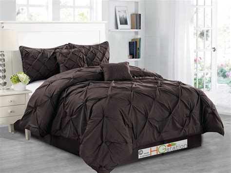 pinched pleat comforter 6 pc diamond ruched pinched pleated ruffled pintuck