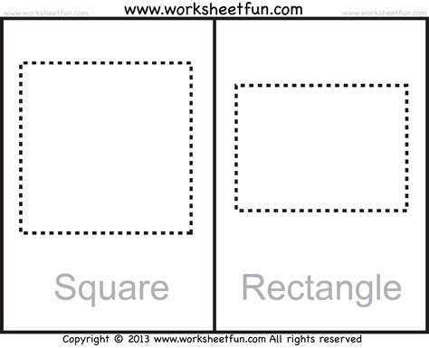 Rectangle Worksheet by Shapes Circle Triangle Square Rectangle Rhombus