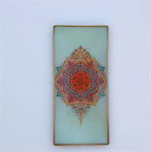 Bohemian Wall Decor by Decoupage Glass Bohemian Wall