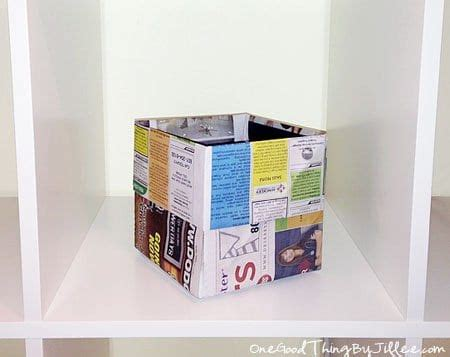 How To Make Paper Trash Can - how to make an origami trash can out of newspaper one