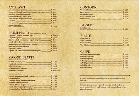 menu tavola calda dove andiamo a mangiare ristorante trattoria pizzeria