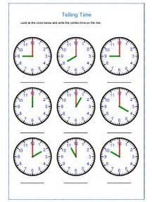 telling time worksheets for kindergarten davezan