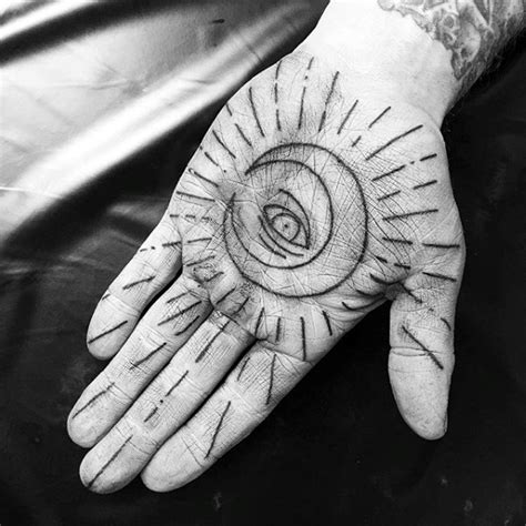 tattoo of eye in palm of hand 100 palm tattoo designs for men inner hand ink ideas