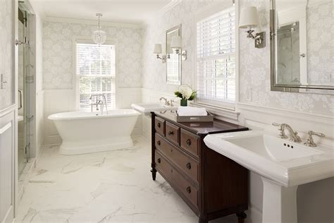 1940 s colonial revival remodel master bath the classic bathroom bartelt the remodeling resource