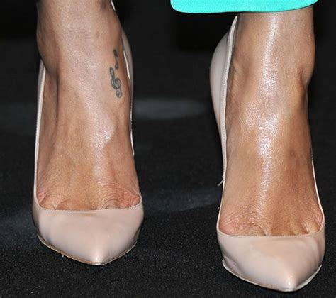 rihanna ankle tattoo foot and leg tattoos 17 showing their ink
