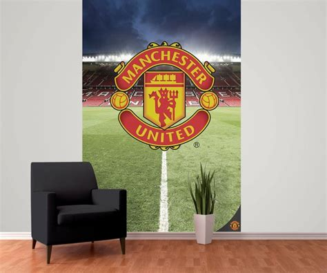 manchester united wall murals manchester united fc wall mural buy at abposters