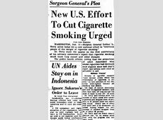 1965: New U.S. Effort to Cut Cigarette Smoking Urged - The ... Lung Cancer From Smoking Cigarettes