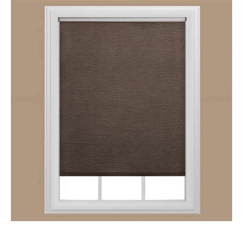 coolaroo walnut cordless exterior roller shade 72 in w
